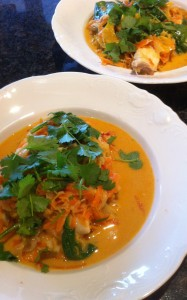 Asiatisk fiskgryta/soppa
