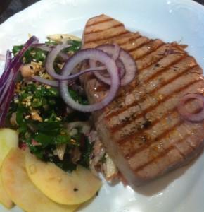 Panngrillad tonfisk