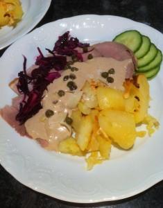 Vildsvinsskinka med tonfisksås